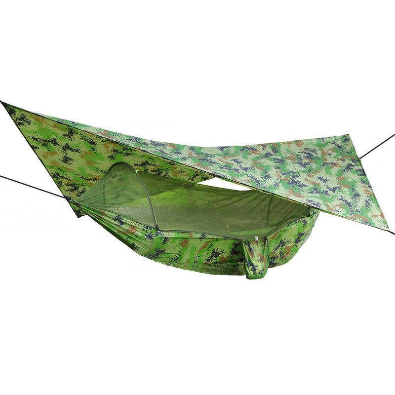 ® 250x120см На открытом воздухе Двойная гамак-подвесная качающаяся кровать с москитной сеткой + палатка для кемпинга Зонт от солнца
