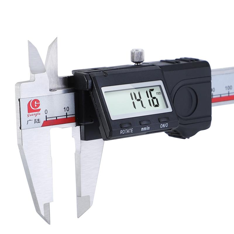 Цифровой штангенциркуль 0-150 мм 6 #and##39;#and##39; левый штангенциркуль с метрической резьбой / дюймов электронный измерительный прибор из нержавеюще