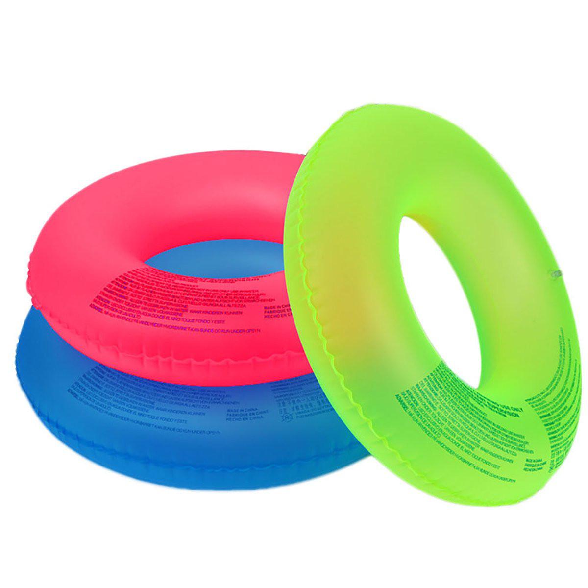 ПВХнадувныефлуоресценцииплаватькольцоплавание Бассейн воды Float Party Пляжный Raft Toy