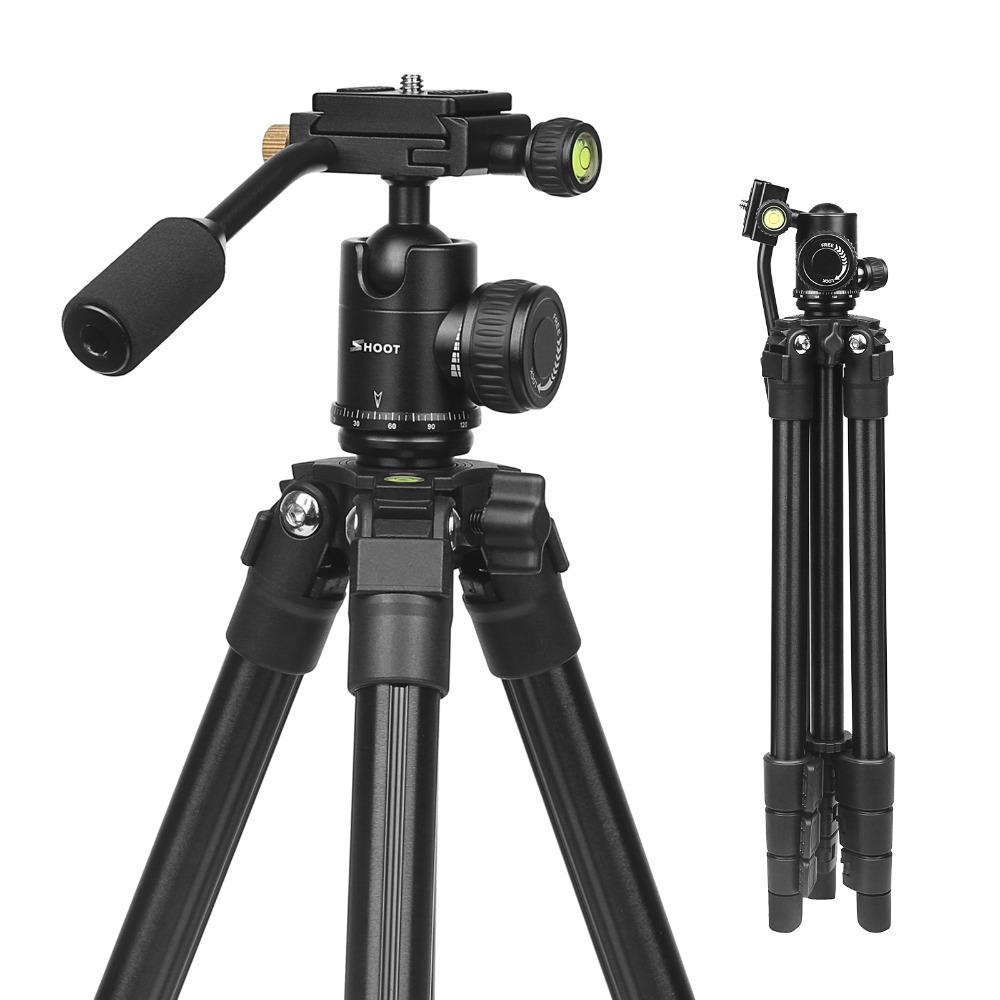 Гибкий 4-секционный 0.93kg Портативный алюминий Штатив для DSLR камера Цифровая видеокамера