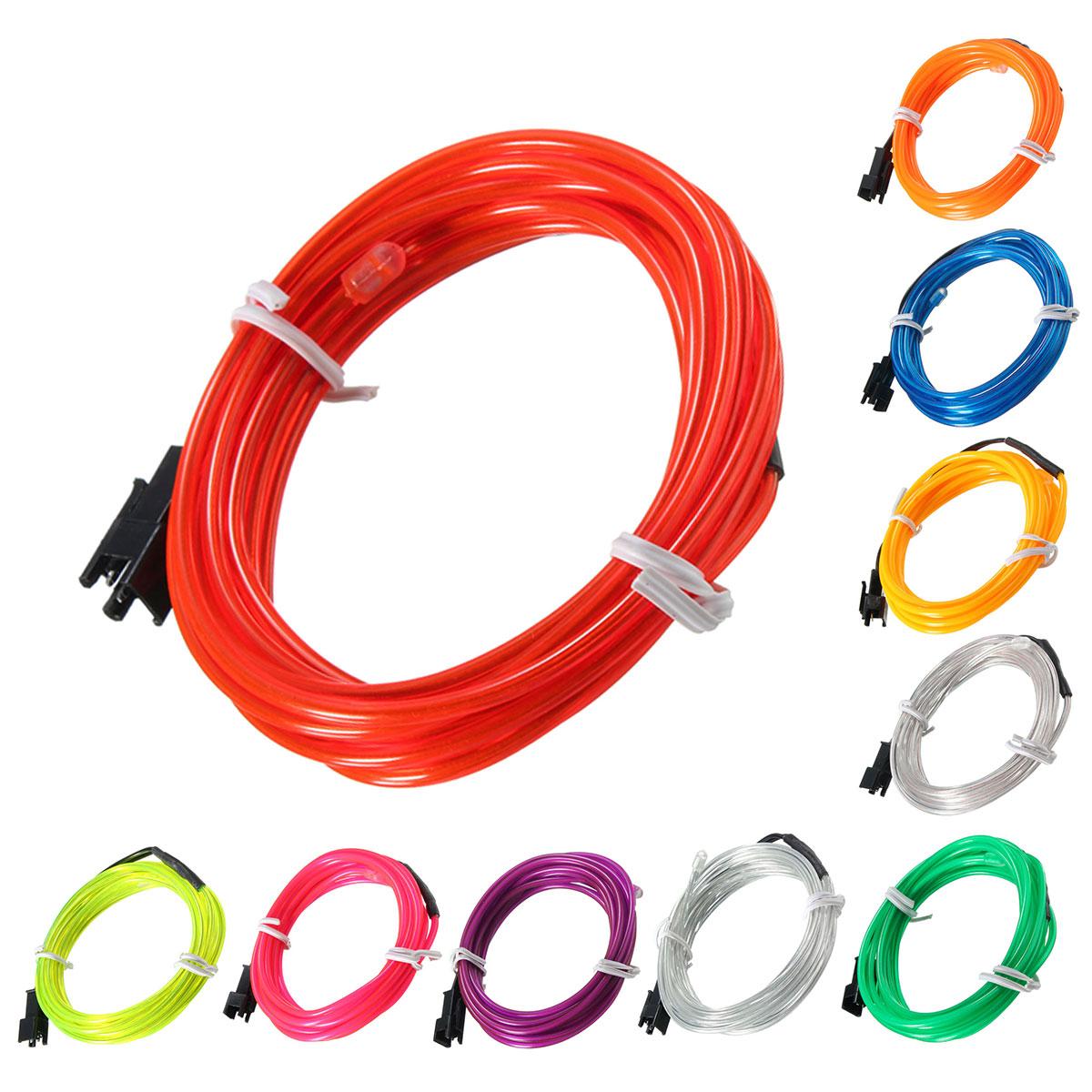 Эль привело гибкой мягкой трубки провода неонового свечения автомобиля веревка полоса света Xmas декор 12 В постоянного тока