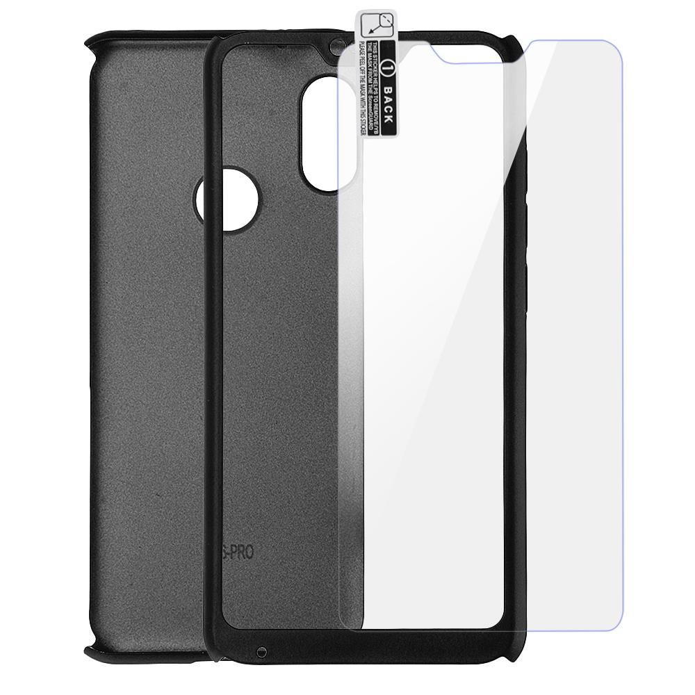 ПротивоударныйжесткийдискBakeey™для всего тела Чехол с закаленным стеклом для Xiaomi Redmi6Pro/MiA2Lite