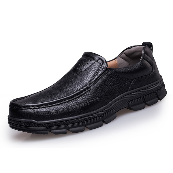 Большой размер Мужские Формальные Кожаные Оксфорды Скольжения На Круглых Ботинках Пальца Ноги