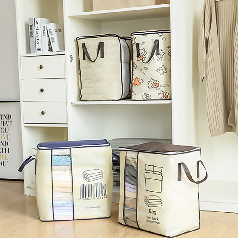 Нетканый Space Saver Одежда Одеяло Хранение Одеяло Сумка Коробка Органайзер Портативный L