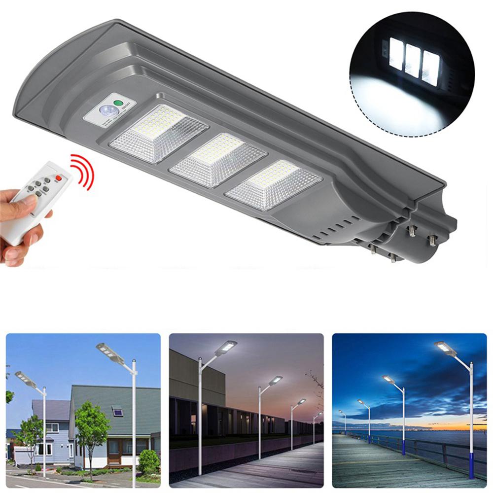 Вт 150 LED Солнечная Уличный фонарь PIR Движение Датчик На открытом воздухе Сад Стена Лампа с Дистанционный
