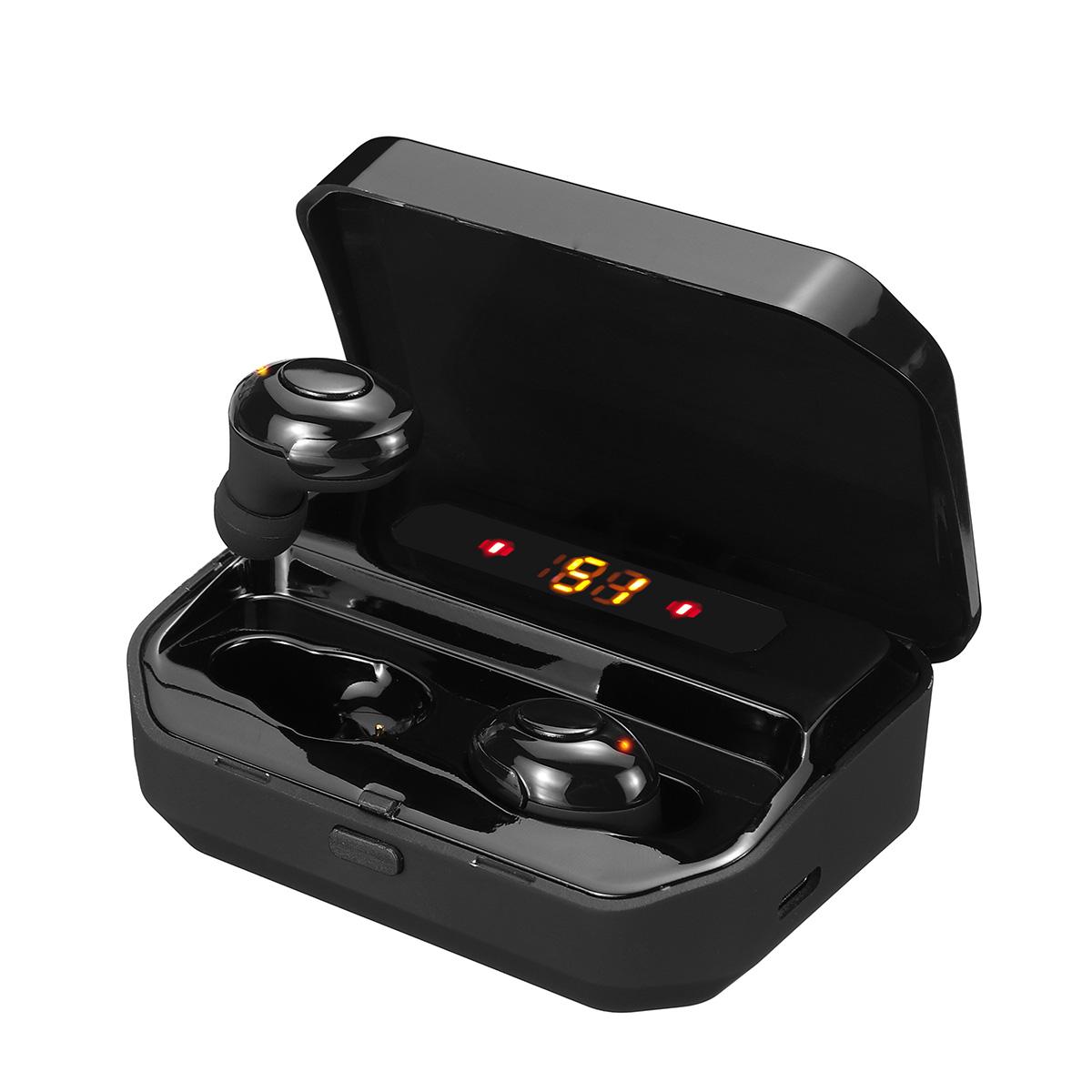 Дисплей Bluetooth-гарнитура 5.0 Беспроводные наушники CVC8.0 + DSP с шумоподавлением-вкладыши Спорт Наушник Автопары Наушники