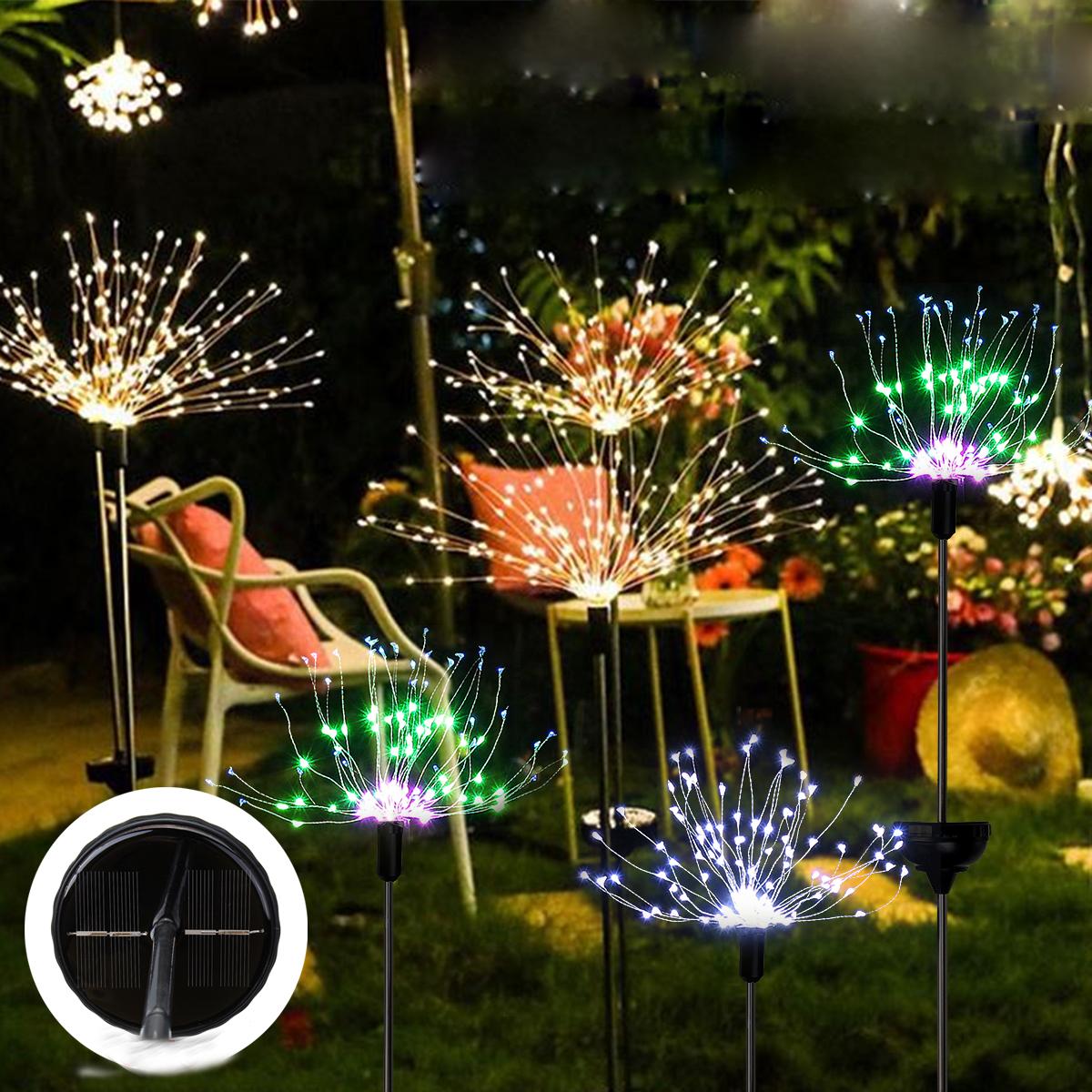 Солнечный фейерверк свет строки 90/120/150 LED Лампа На открытом воздухе Сад украшение партии