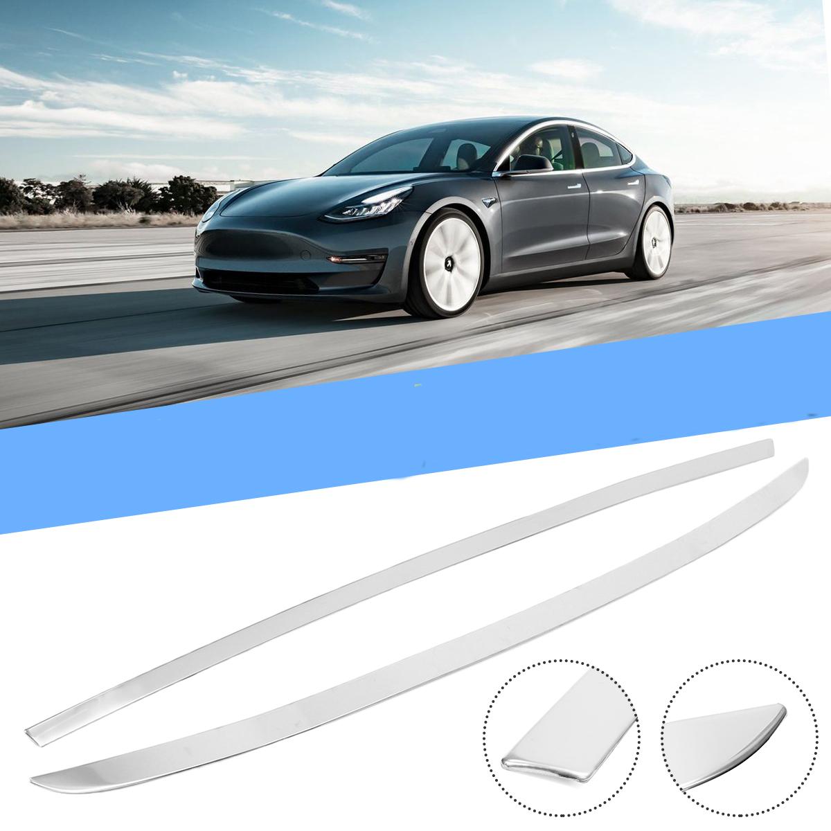 Нержавеющая задняя верхняя накладка крышки багажника Авто Литьевая крышка полосы для Tesla Model 3 2018 2019