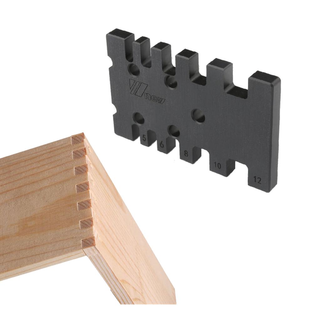 Дюймов / MM Деревообрабатывающий фрезерный станок для шипования и врезания Угловой шаблон для торцовочного станка Прямоугольная пила