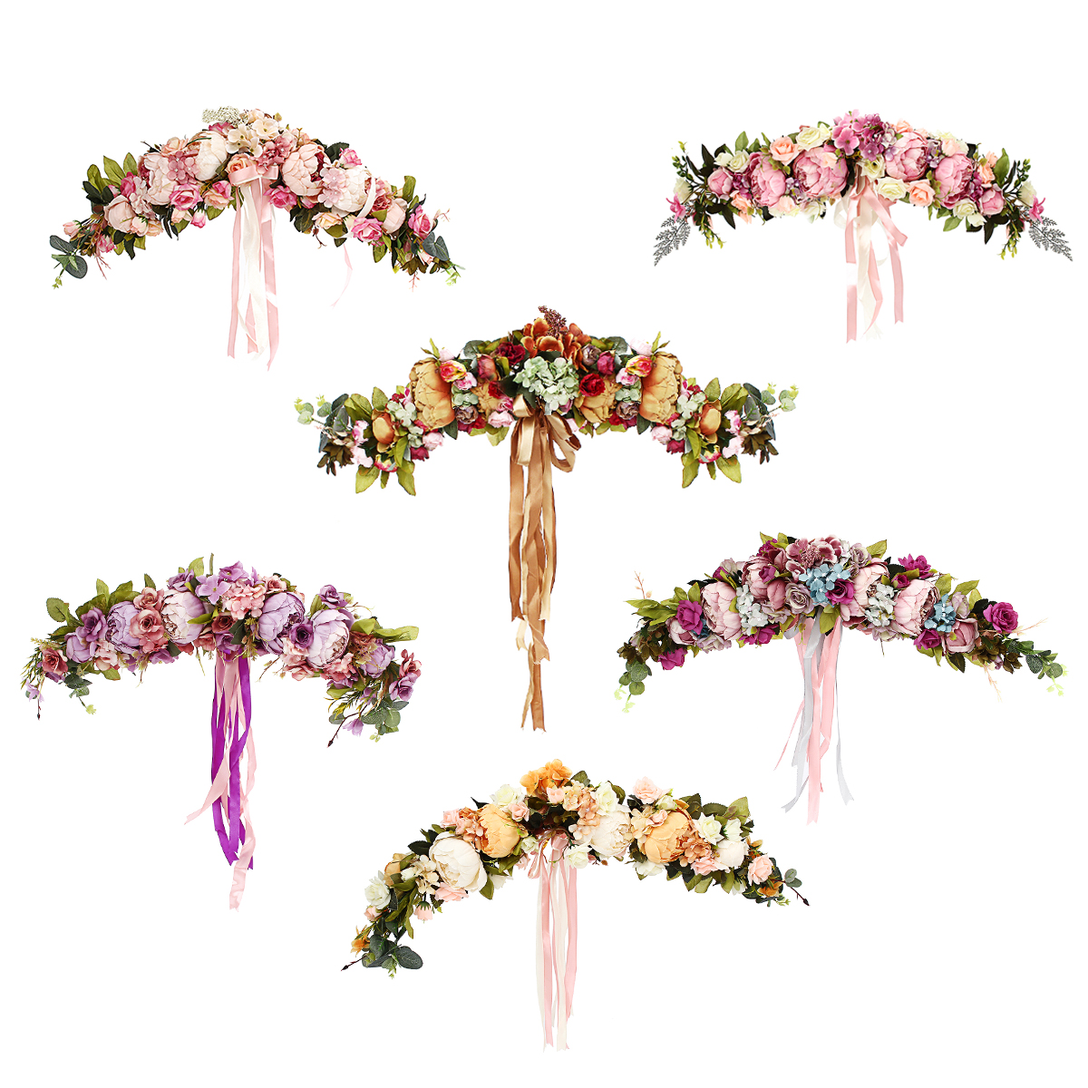Искусственные Цветы Гирлянда Европейская Линия Стены Цветочная Дверь Венок для Свадебное Домашний Рождественский Декор Поставок