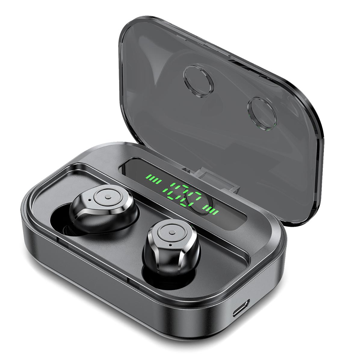 Беспроводные наушники Bluetooth 5.0 Наушник CVC8.0 Микрофон с шумоподавлением 3600mAh IPX7 Водонепроницаемы Наушники