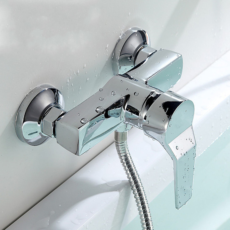 Ванная комната Сплав цинка Настенный горячий и холодный смеситель для душа Клапан для ванны Смеситель для ванны бассейна Смеситель для ва