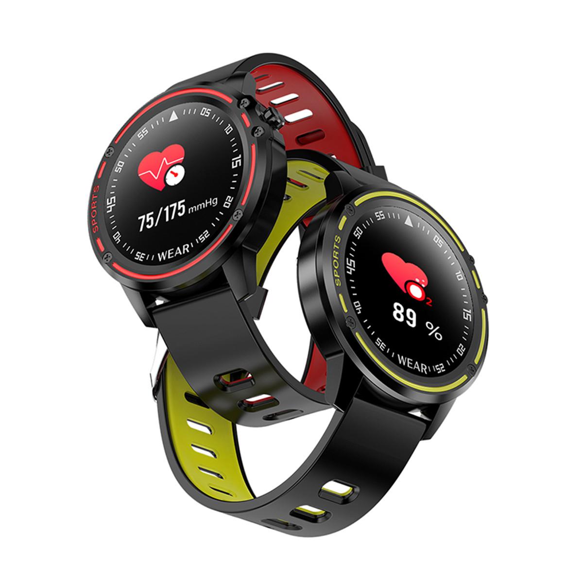 Полный сенсорный экран ЭКГ + PPG O2 IP68 Спортивный режим Bluetooth Music Control Погода Смарт-часы