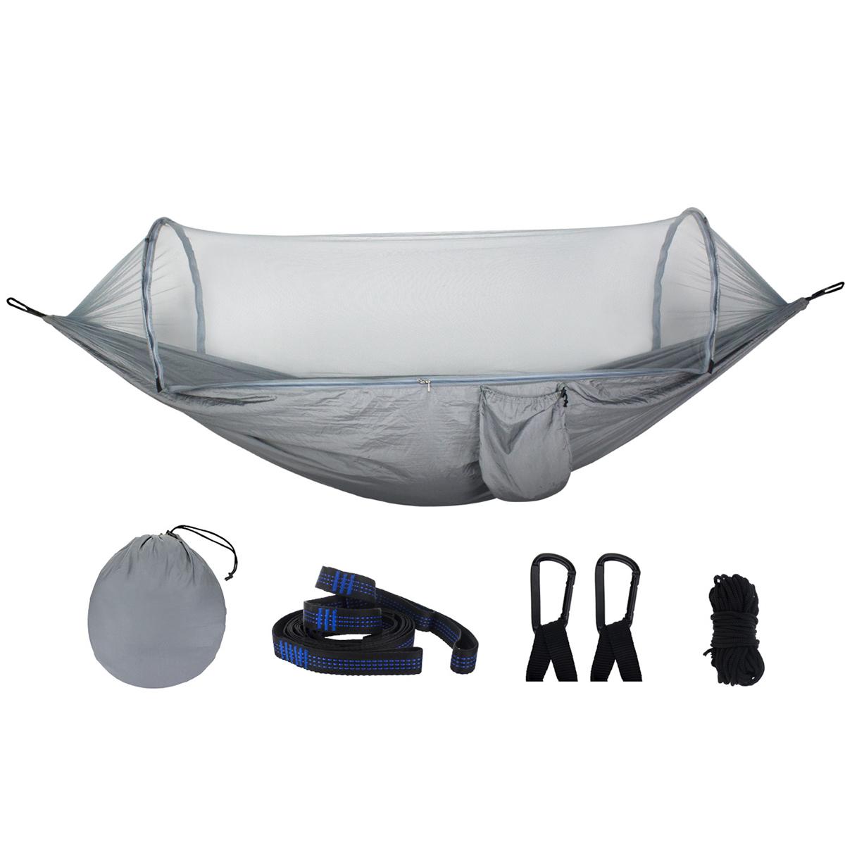См Auto Quick Open Гамак На открытом воздухе Кемпинг Подвесная качающаяся кровать с москитной сеткой Макс. Нагрузка 250 кг