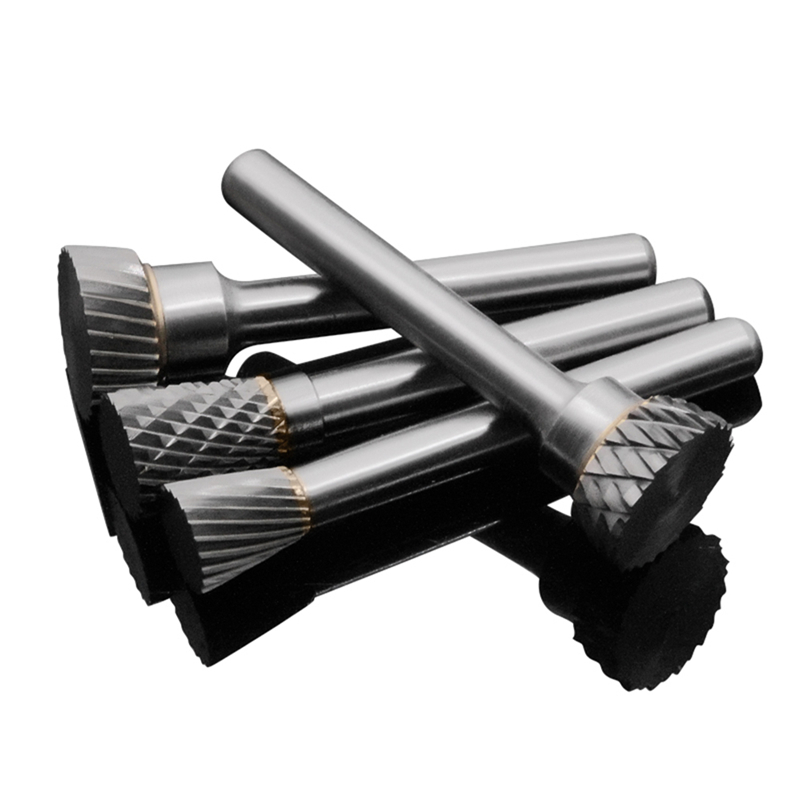 Двухканавочный сплав Роторный расточной Инструмент Вольфрамовая сталь Резьба по дереву N-образный Конус Конус Фрезер Шлифовальная г