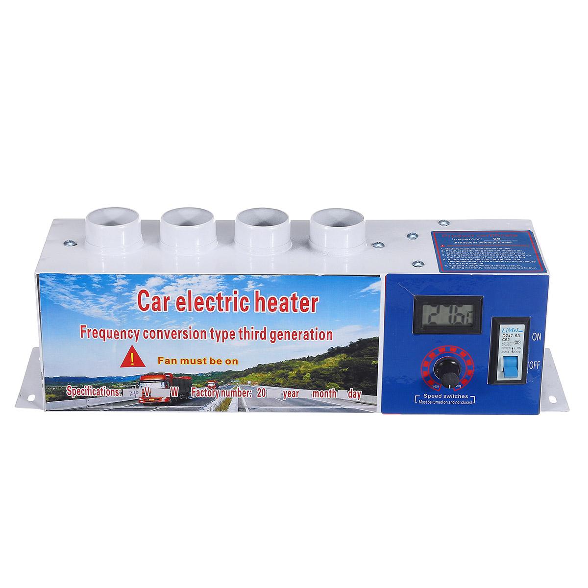 В 24 В 1000 Вт 4 Отверстия Авто Электрический Нагреватель Кондиционер Отопление Обогреватель