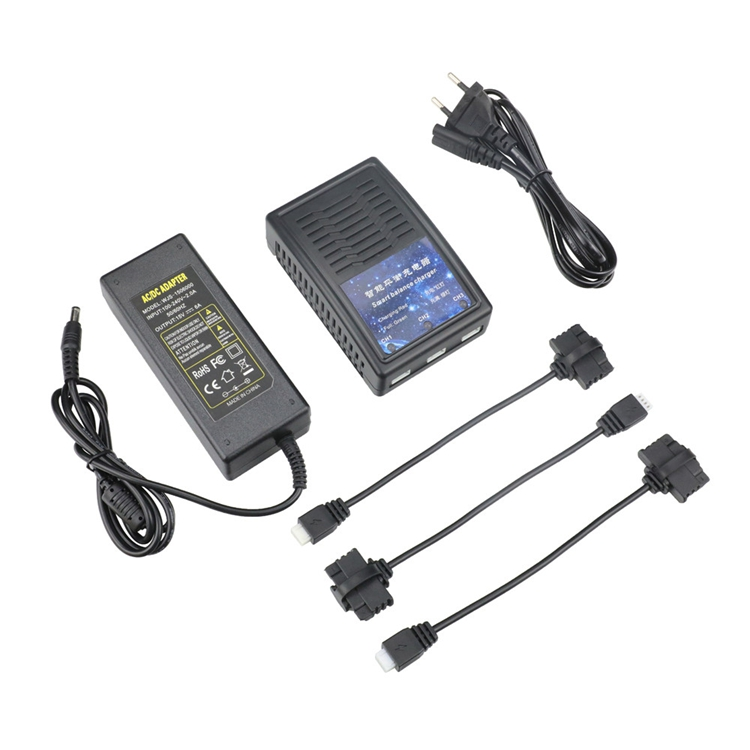 В-1 адаптер для зарядного устройства Smart Balance Батарея с 3PCS зарядным кабелем для Hubsan Zino Pro / Zino H117S RC Дрон