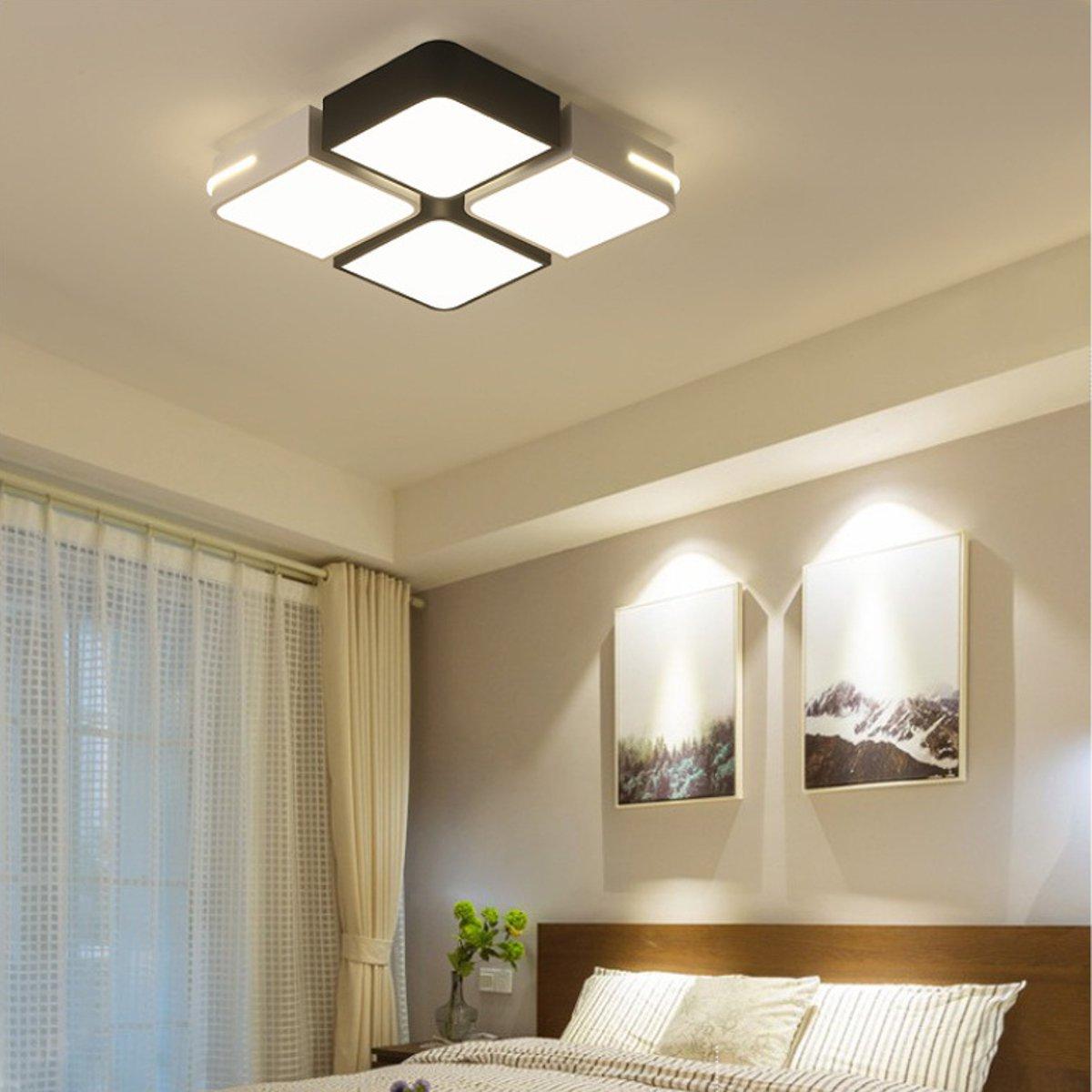 Вт Акриловые LED Потолочный Светильник Кулон Люстра Лампа Спальня Dimmable Светильник Декор 220 В