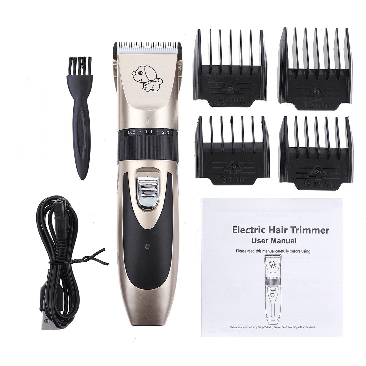 Аккумуляторная электрическая машинка для стрижки домашних животных Собака Кот Волосы Триммер