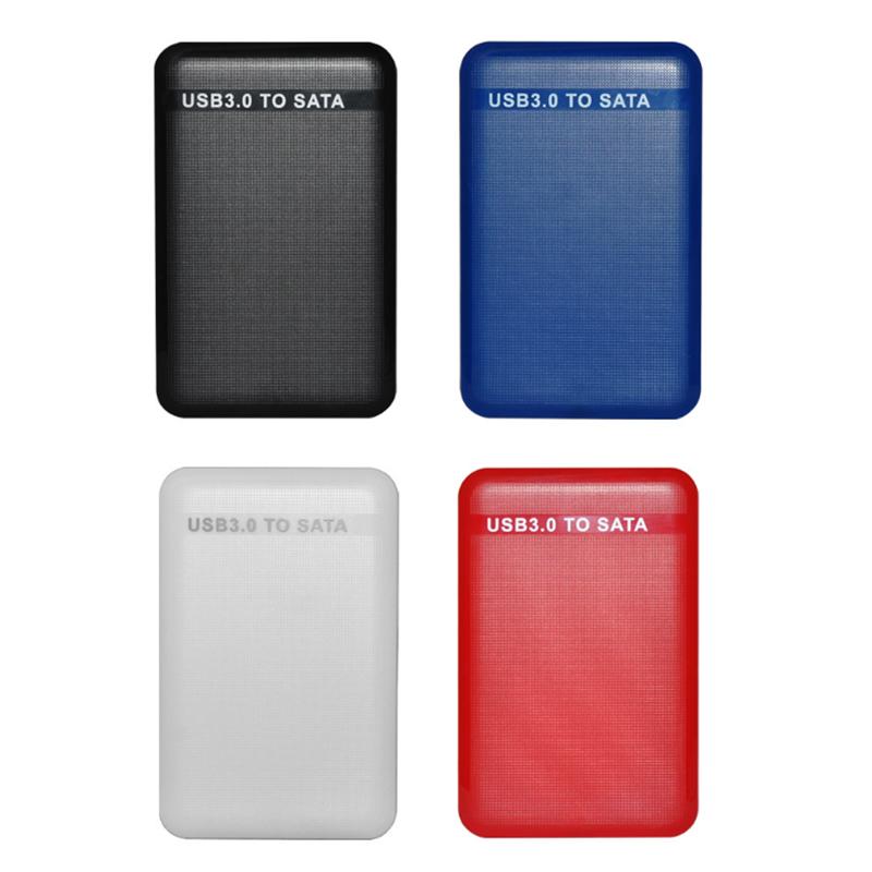 Внешний жесткий диск с интерфейсом USB3.0 на SATA SSD Внешний корпус Чехол 6 Гбит / с для 2,5-дюймового жесткого диска емкостью 2 ТБ