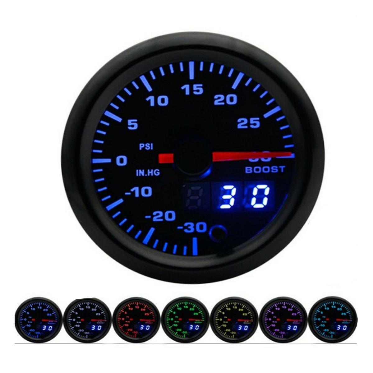 В 2 дюймов 52 мм Указатель напряжения 7 Цвет LED Дисплей Авто Вольт Универсальный