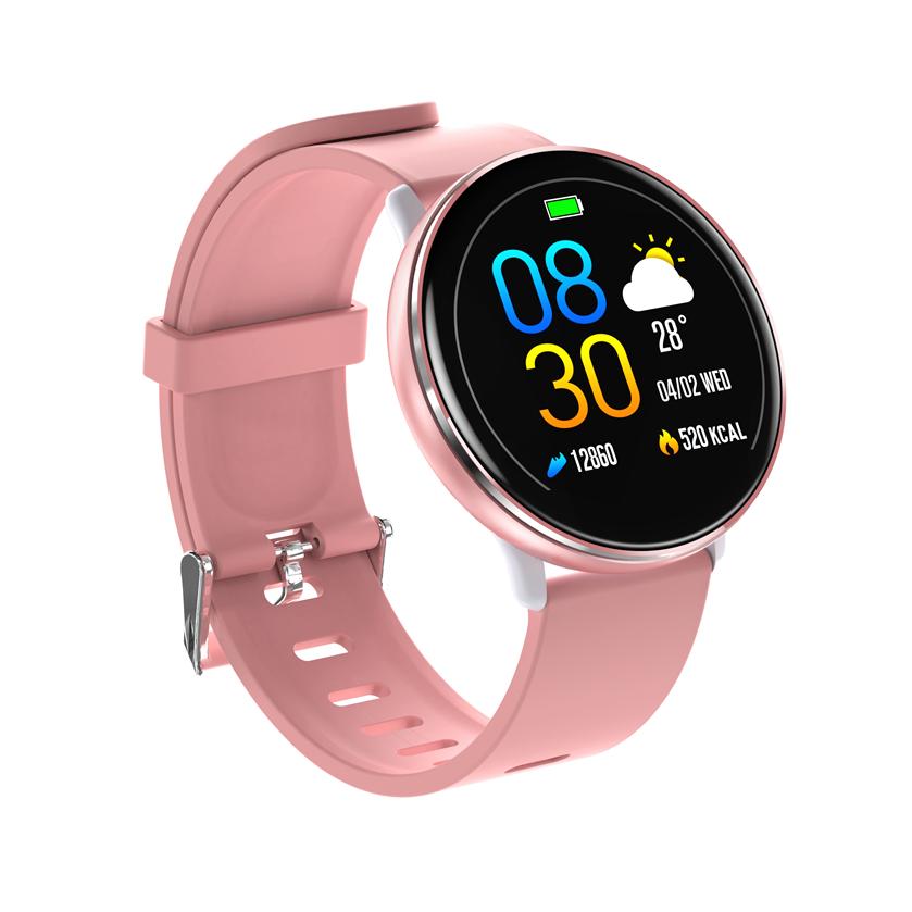 Полностью сенсорный экран Ультра-легкий Сердце Оценить O2 Спортивный режим IP68 Прогноз погоды Мода Смарт-часы