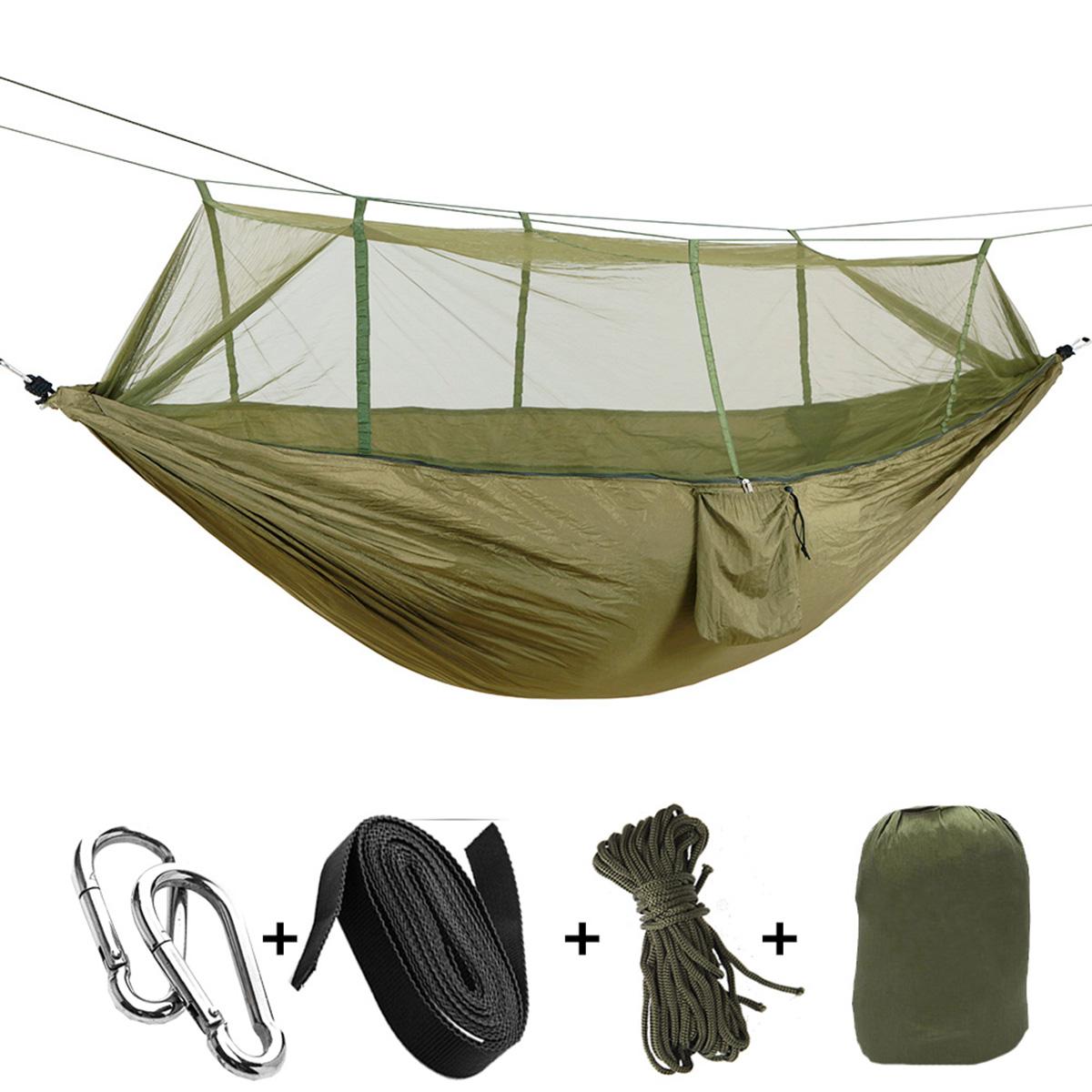 См На открытом воздухе двухместный Кемпинг гамак подвесная кровать-качалка с москитной сеткой