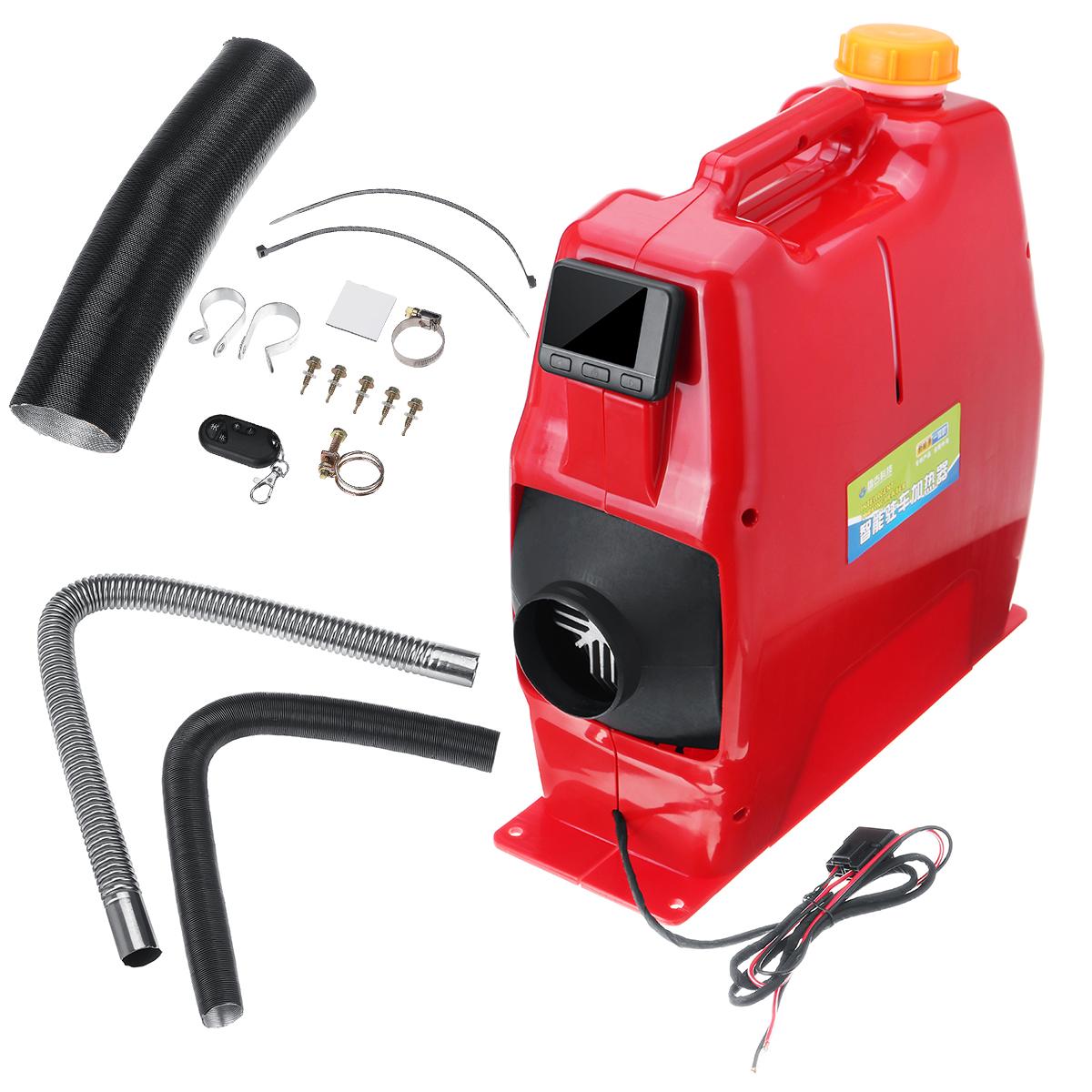Все в One Unit 8KW 12 / 24V Авто Отопление Инструмент Diesel Air Нагреватель Одно отверстие LCD Монитор Парковочный обогреватель для Авто Грузовой автобу