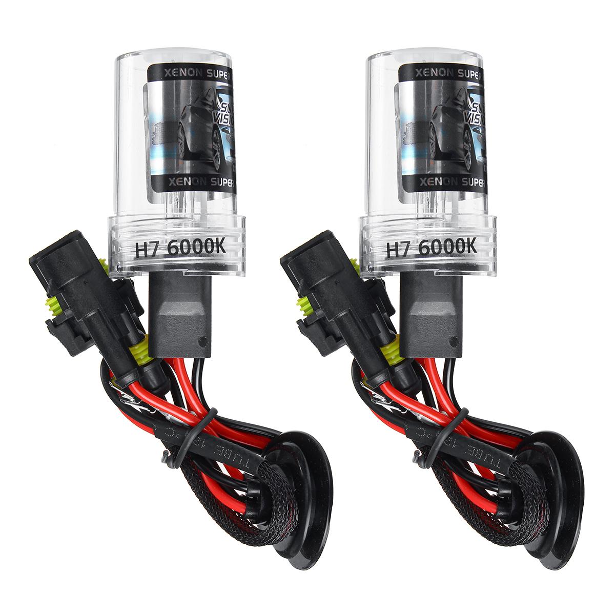 Шт H7 Авто HID ксеноновые фары лампы преобразования KIT 55 Вт постоянного тока 9-16 В 5500LM 5000K / 6000K / 8000K IP68