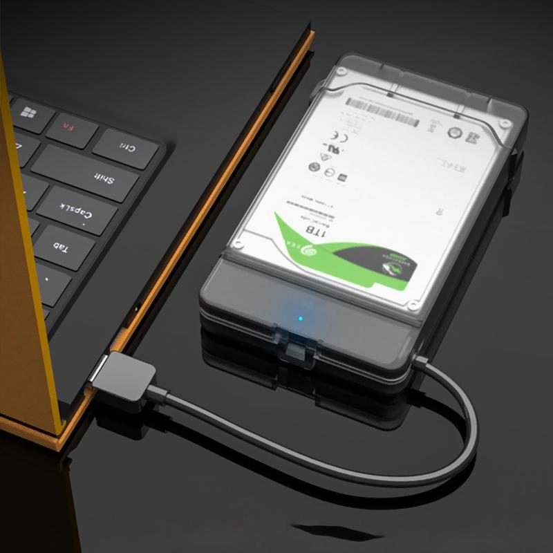 Дюймовый жесткий диск SSD Корпус Чехол SATA to USB 3.0 Жесткий диск Коробка Твердотельный накопитель Адаптер для жесткого диска 5Gbp