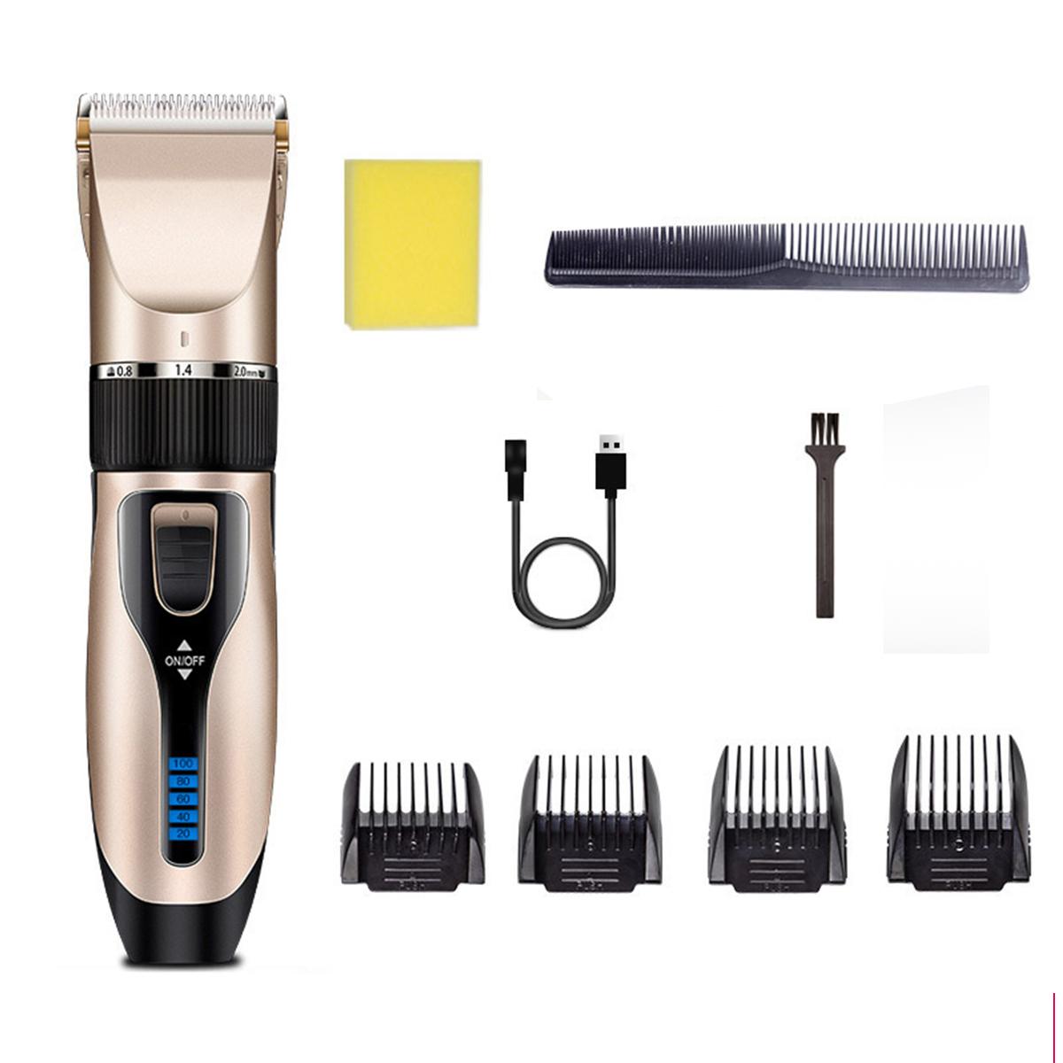 Дисплей Аккумуляторная Для взрослых Дети Волосы Машинка Электрическая Волосы Триммер