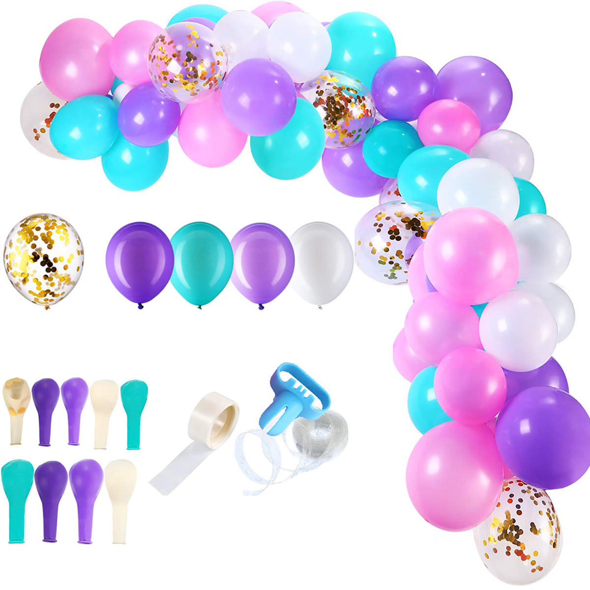 Шт многоцветный Воздушный шар арочные гирлянды наборы конфетти Латекс Воздушный шарs цепочка цветочные Garl Свадебное украшения