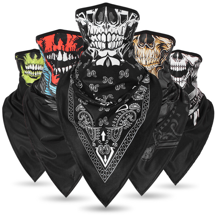 Солнцезащитный Череп Ice Silk дышащий многоцелевой шарф лицо Маска Головные уборы Шапка мотоцикл Cap