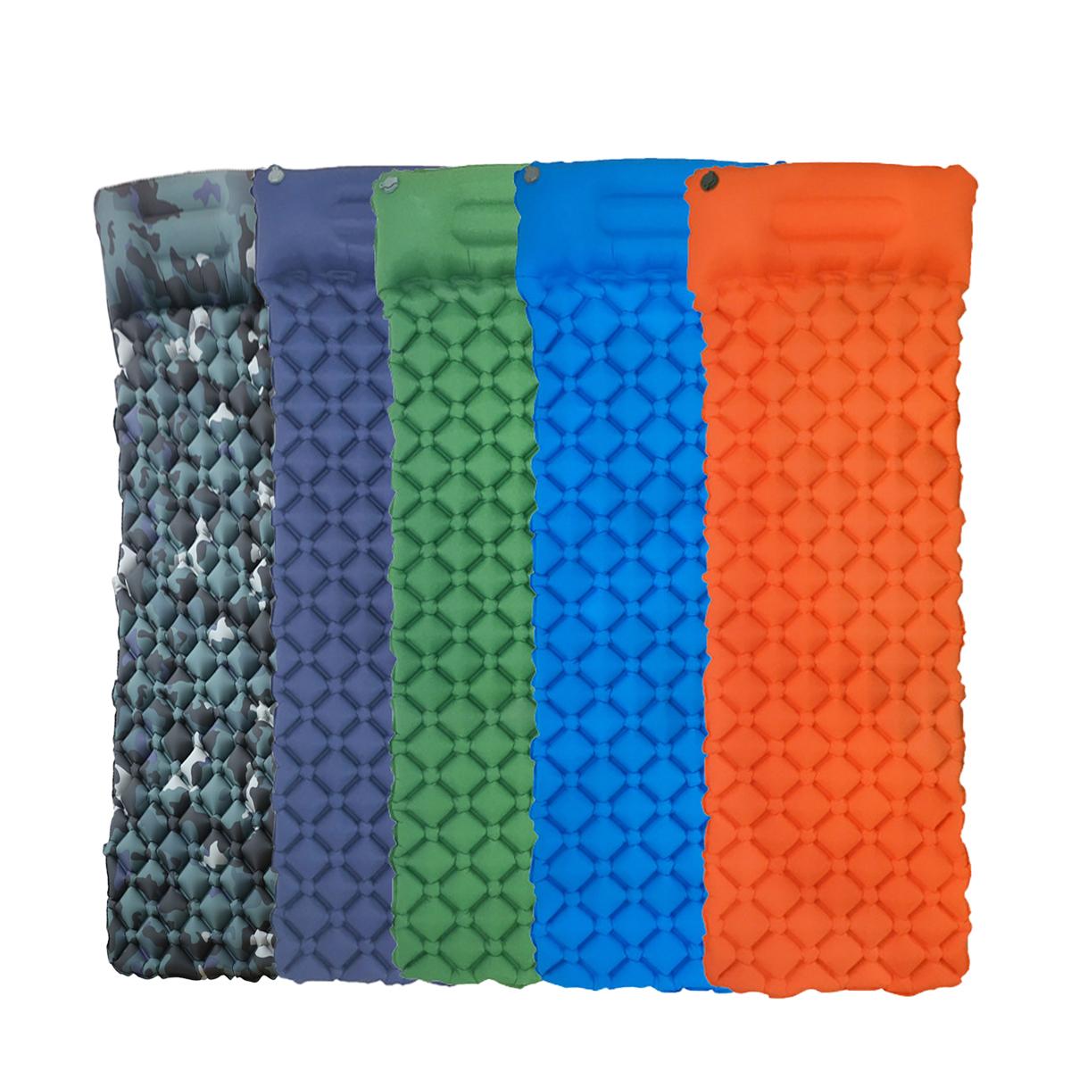 Надувные матрасы ТПУ На открытом воздухе Надувная подушка Кемпинг Коврик для пикника Пляжный Коврик с подушкой