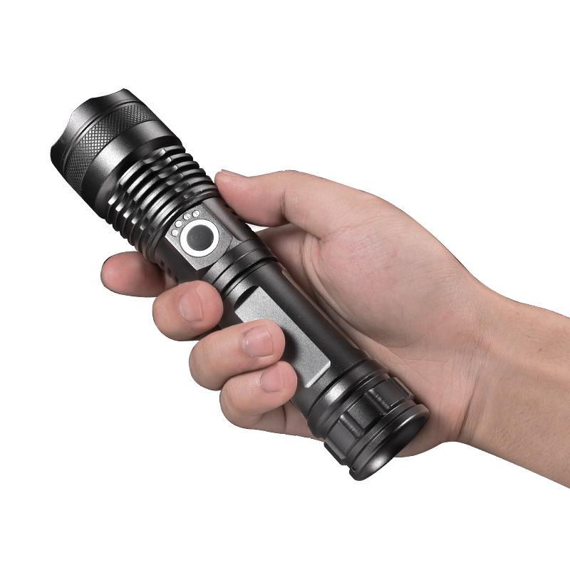 УЛЫБАЮЩАЯСЯ АКУЛА X71 XHP70 30 Вт 1000 м Long Shot LED Фонарик 26650 USB аккумуляторный фонарик