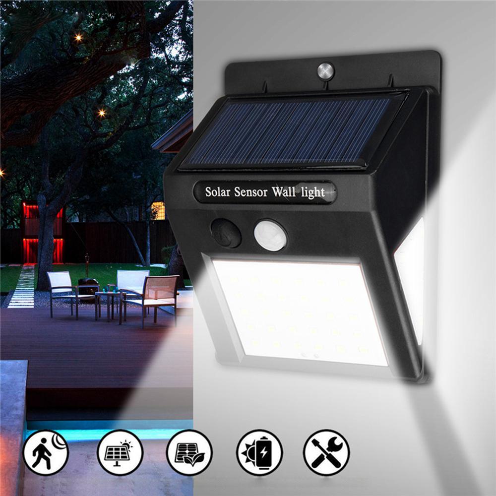 Шт LED Солнечная Power Light PIR Motion Датчик Сад Двор Стена Лампа Безопасность На открытом воздухе