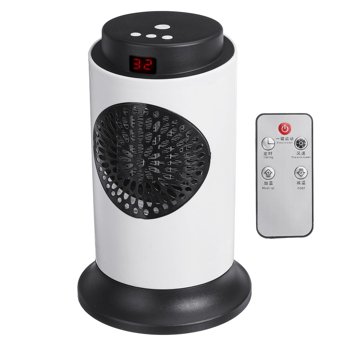 Вт 220 В Воздуха Нагреватель Вентилятор Электрический Нагреватель Воздуха Отопления Зима Теплее Устройство с Дистанционное Управление