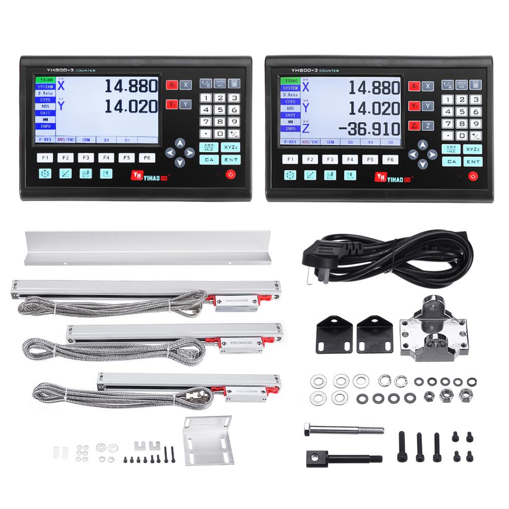 Осевая фрезерная фрезерная обработка с ЧПУ Цифровое считывание Дисплей DRO / KA300 5 мкм TTL 70-970 мм Электронный линейный Шкала Энкодер