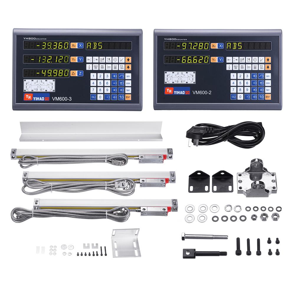 Осевая фрезерная фрезерная обработка с ЧПУ Цифровая индикация Дисплей DRO / TTL 50-1100 мм Электронная линейная Шкала Токарный станок Ин
