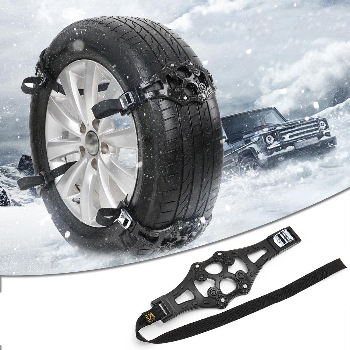 Универсальный ТПУ Зима Авто Снег Цепи Колесные Шины Противоскольжения Безопасность Ремень Безопасное Вождение Для Ледяного Песка Мутный