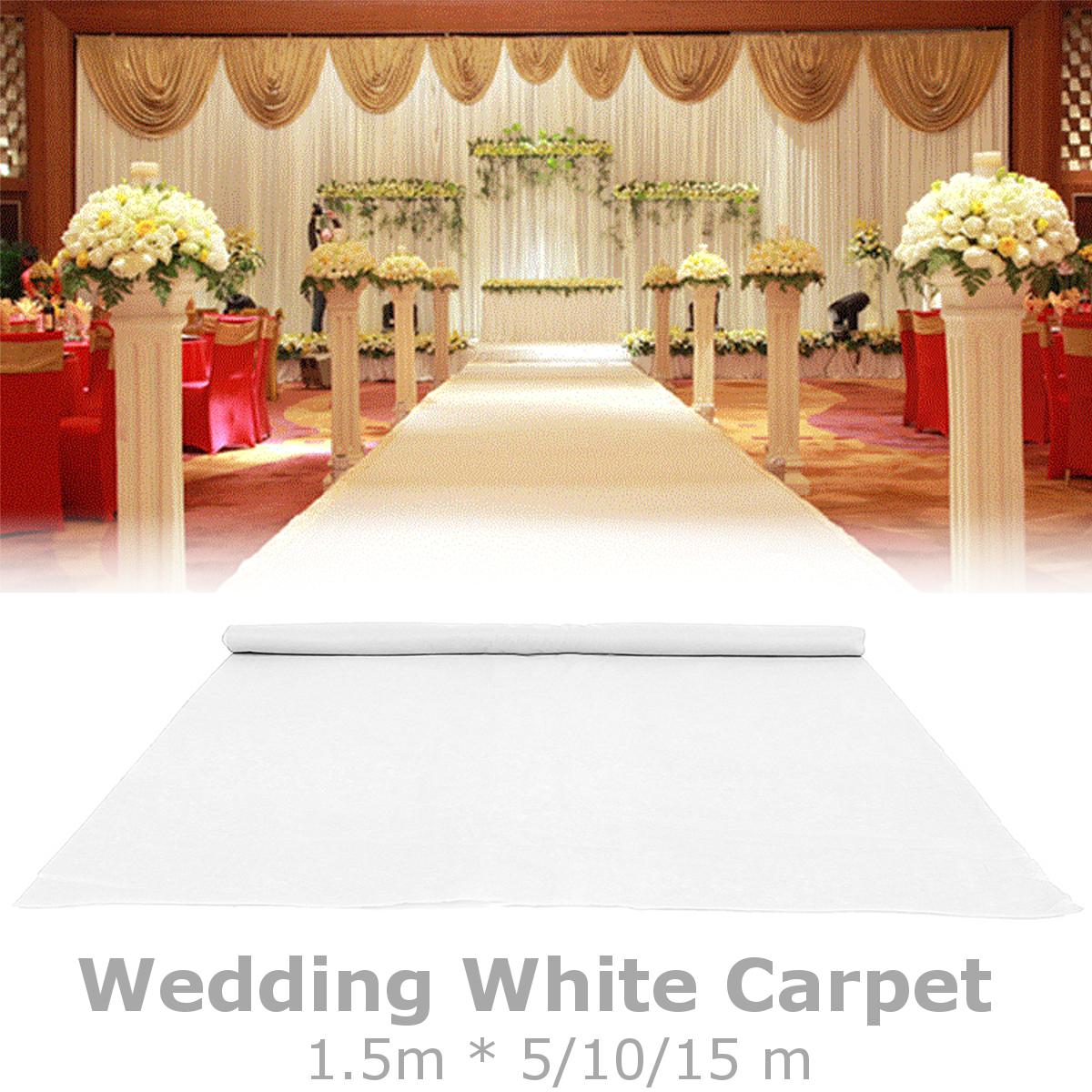 М белый ковер бегун Свадебное участник прохода коврик напольный выставка фестиваль ролл