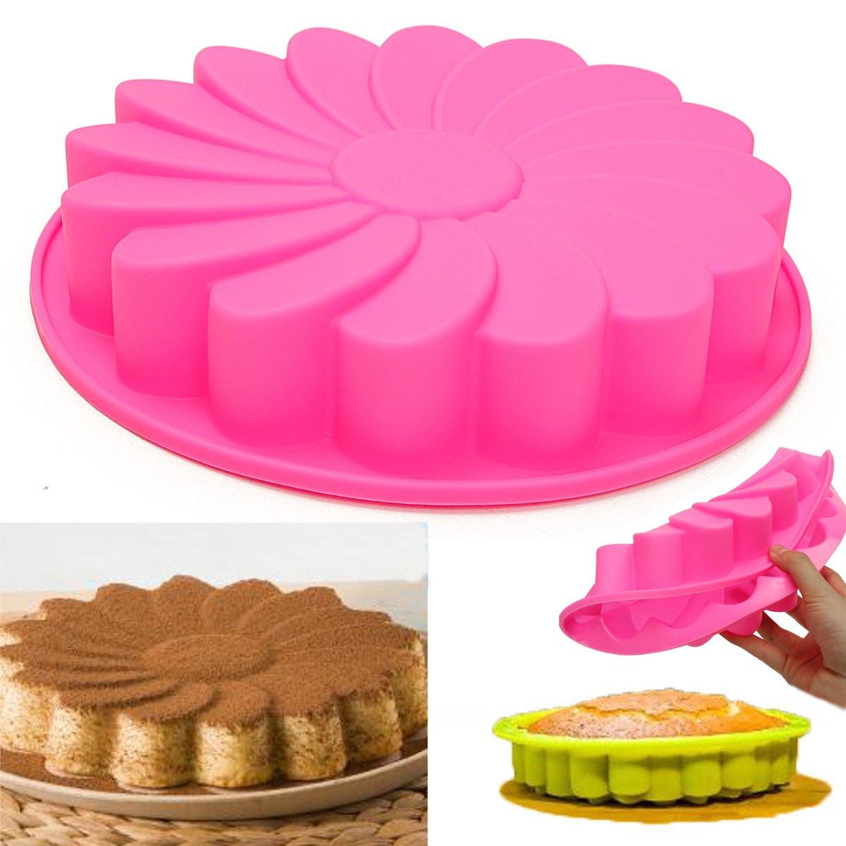 Силиконовый Цветочный торт Шоколадный хлеб Форма для выпечки Форма для выпечки кекса Форма для выпечки Инструмент