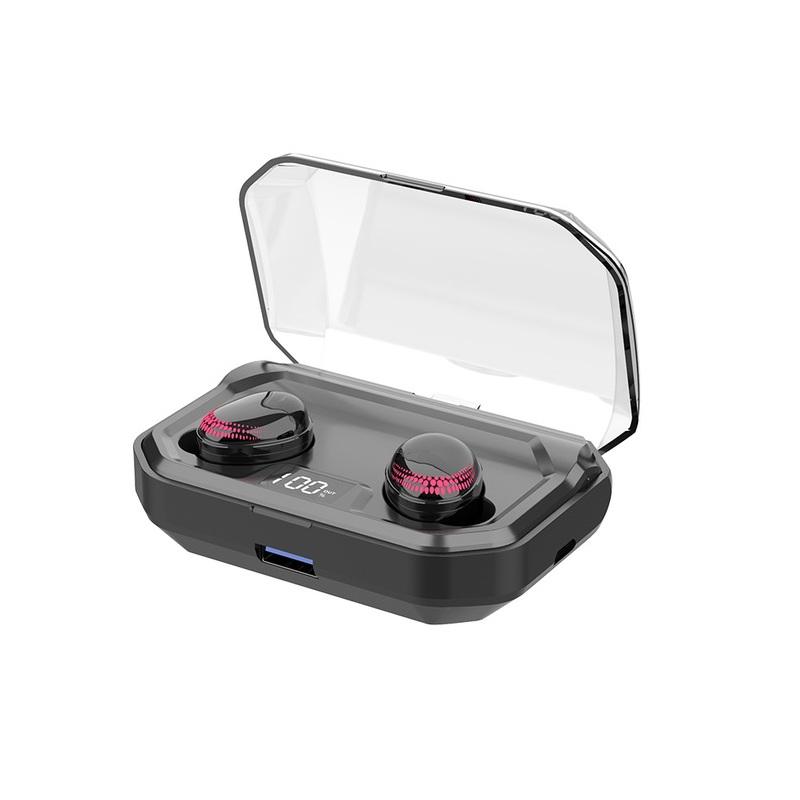 Беспроводные наушники bluetooth 5.0 Наушник LED Мощность Дисплей 3000 мАч HiFi стерео наушники для iPhone Xiaomi