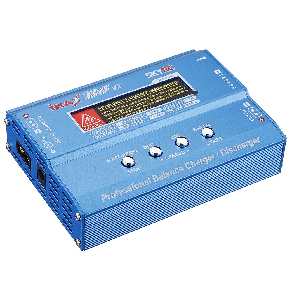 Вт 6A DC 2.5mm / XT60 Двойной вход Батарея Зарядное устройство баланса с разрядником с выходом XT60 для Lipo / Li-ion / LiHV / LiFe / NiMh Батарея