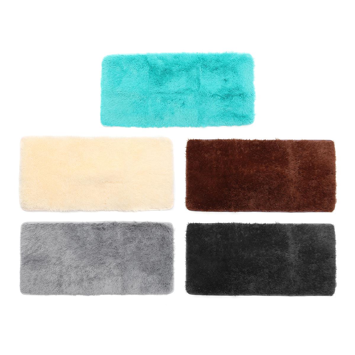 Мягкие пушистые коврики Противоскользящее мохнатое ковровое покрытие Главная Спальня Площадь пола Ковер