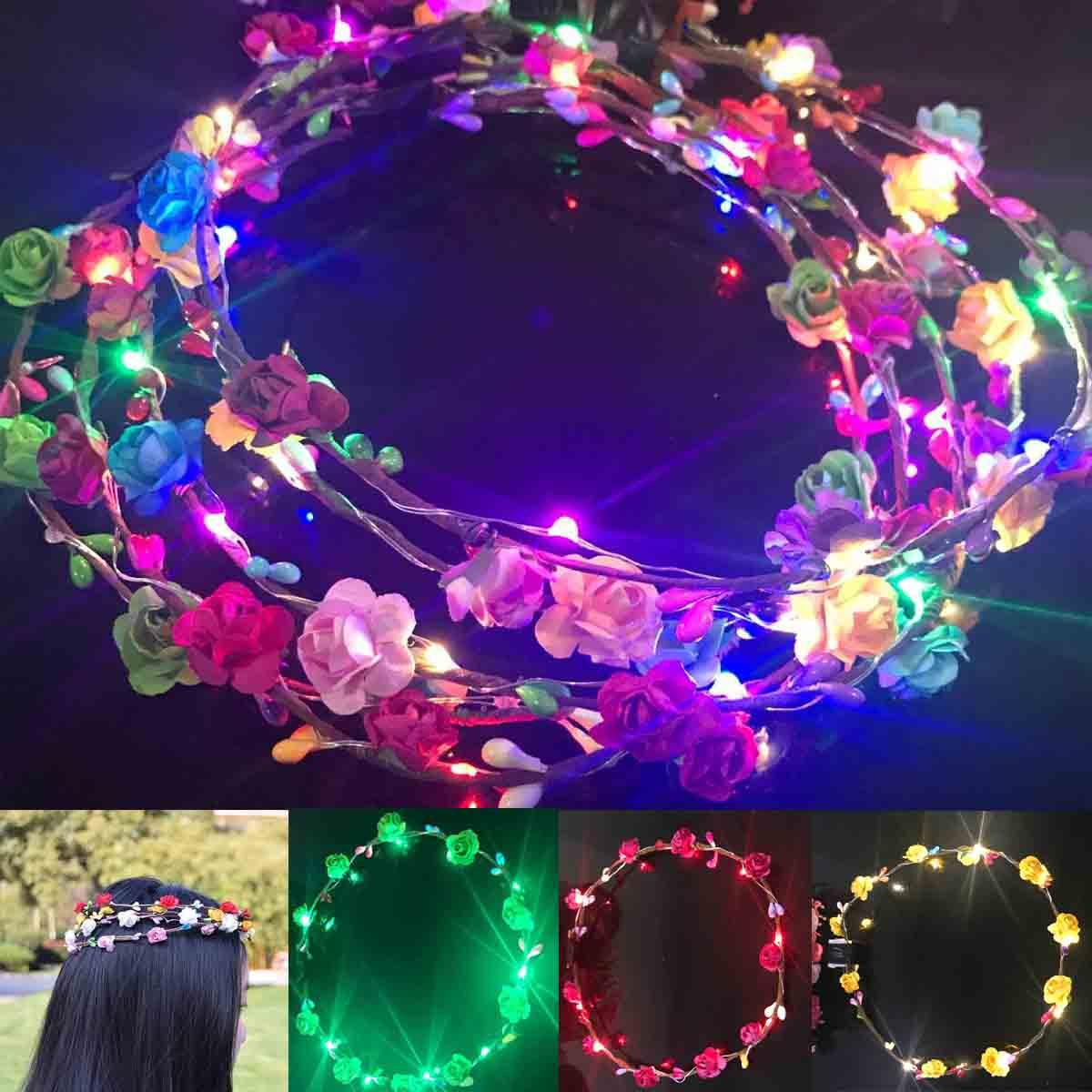 Цветочный Венок Праздник Праздника Света Гирлянды Оголовье Свадебное Фотография Подарок