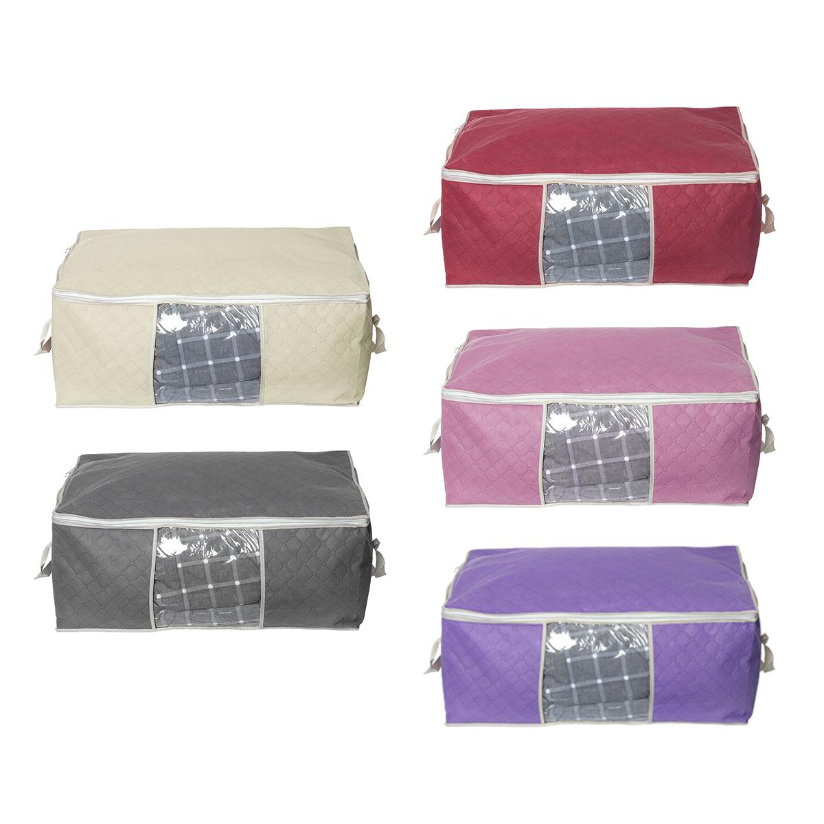 Складное хранение Сумка Одеяло для постельного белья Органайзер Держатель Чехол Корзины с ручкой