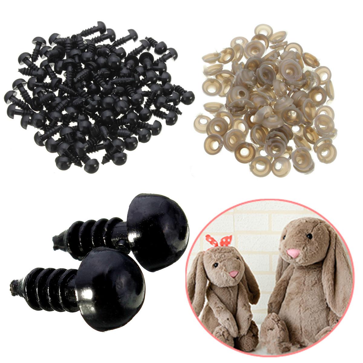 Шт игрушки глаз шайбы черные пластиковые защитные глаза для плюшевого мишки Кукла животных кукольный ремесла аксессуары