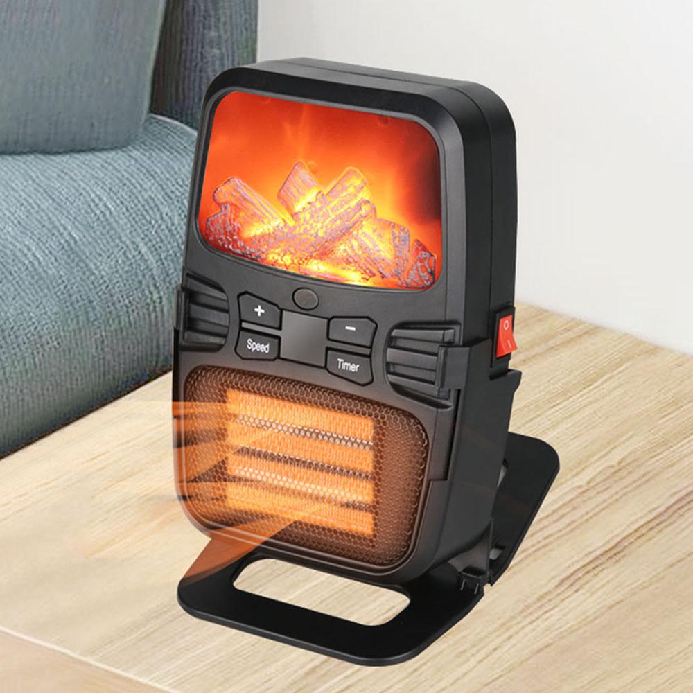 Многофункциональный 1000 Вт Нагреватель Home Flame Нагреватель Настольный мини Нагреватель Офис Лампа Теплее с Дистанционное Управление В