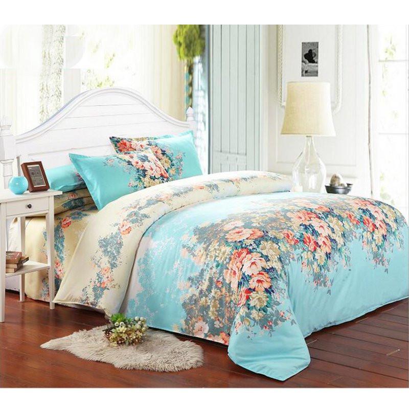 Шт синий одноместный двуспальная кровать размера \